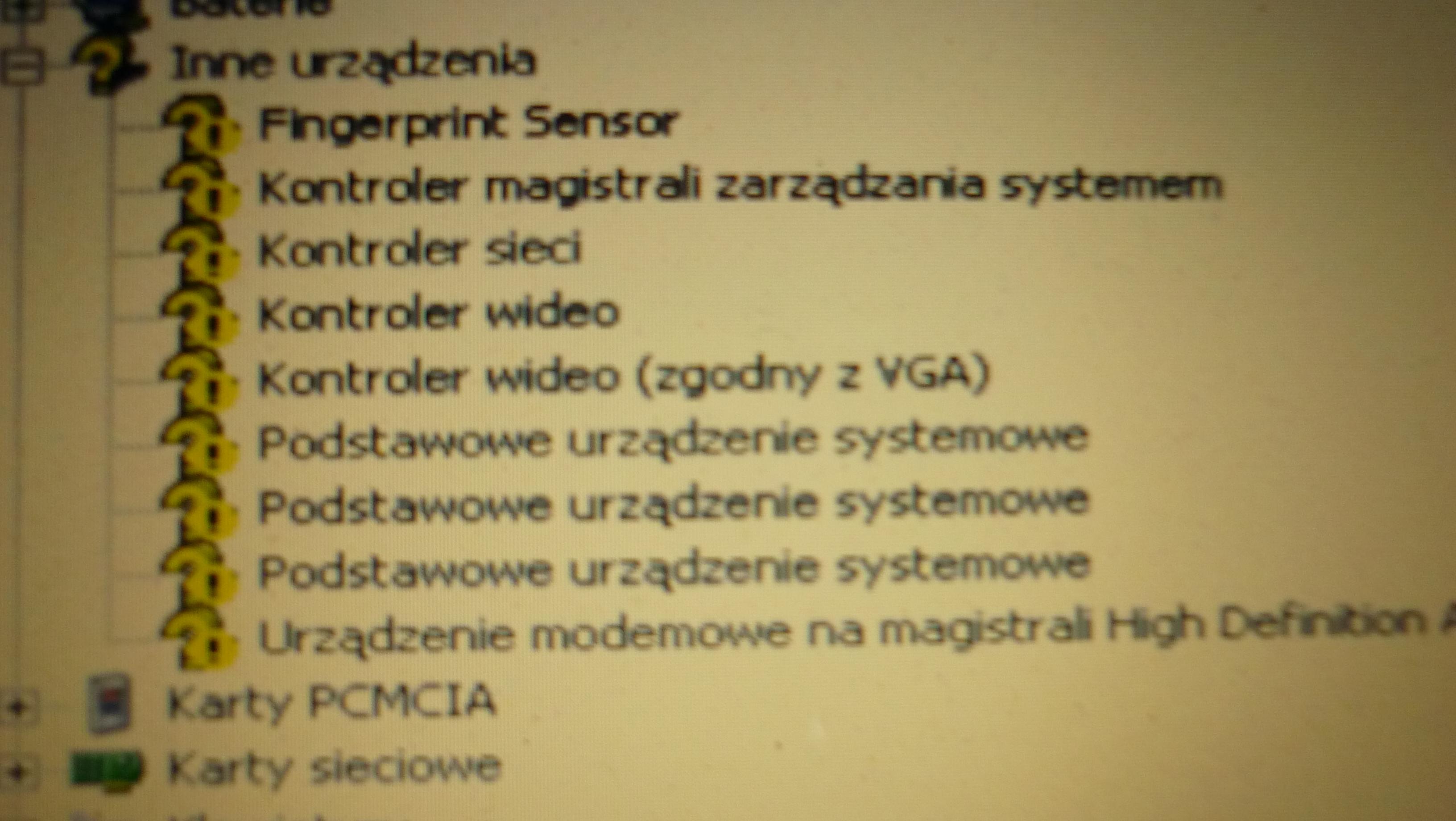 Lenovo 3000N100 - Po reinstalce XP SP3 brak sterownikow
