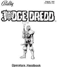 Flipper JUDGE DREDD instrukcja ENG