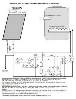 Instalacja PV moc 1kW grzanie 80l dobór PWM