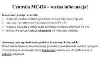 Centrala NICE Wingo MC424 nie wczytuje położeń krańcowych