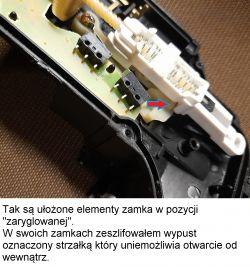 VW Bora 2002 - Zablokowane tylne, lewe drzwi