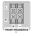 Wyj�cie kolumnowe zaciski stereo -> mini jack
