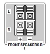 Wyjście kolumnowe zaciski stereo -> mini jack