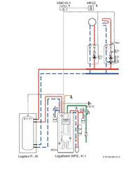 Buderus WPS10-1 Logano 221A - Schemat instalacja PC biwalentny alternatywny
