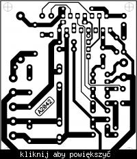 Płytka do TDA7293, w dużej rozdzielczości. Schemat.