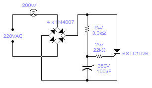 Sygnalizator świetlny 230V -problemy w schemacie?