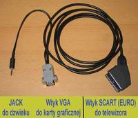 Konwerter VGA-EURO - Podłączeniem lapka do TV