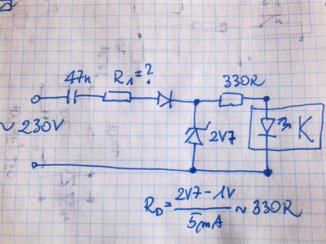 Detekcja napi�cia sieci 230V~ transoptorem - jak?