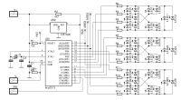 Cyfrowy termometr z quasi-analogową skalą by bsw