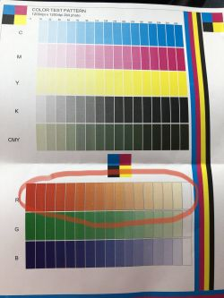 Ricoh mpc3002 - Test page zamiast czerwonego jest pomarańczowy