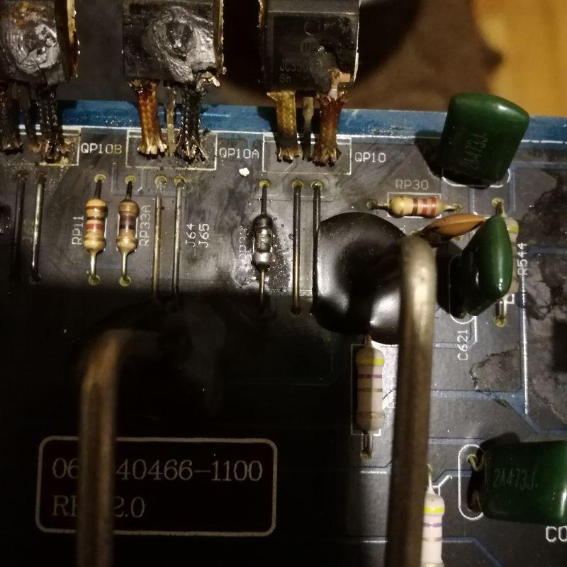 Wzmacniacz peiying py-4c127 - Spalone tranzystory