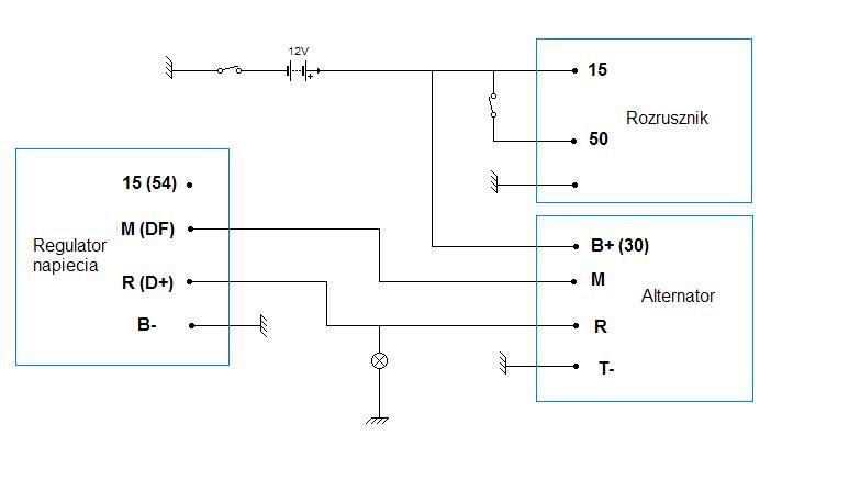 Jak pod��czy� alternator i rozrusznik w skodzie 1203?