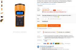 Dalmierz ultradźwiękowy CP-3008 Made in China - Recenzja