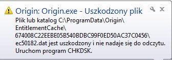 Problem z CHKDSK - przy uruchamianiu program�w.
