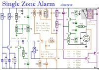 Tranzystorowy alarm jednostrefowy