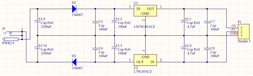 Pro�ba o weryfikacj� schematu zasilacza +5V/-5V