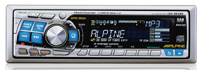 Alpine 9812RB wy�wietlanie