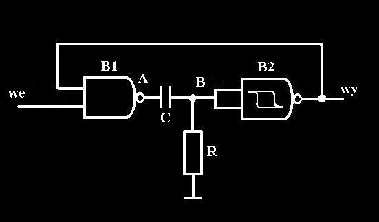 przerzutnik - obliczenie warto�ci element�w