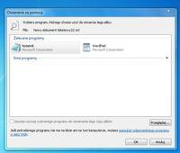 Windows 7 64bit. - Typy i skojarzeń plików.