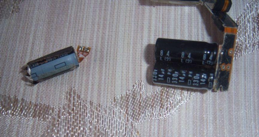 LG KU990 - kondensator 14uF zamiast 10uF