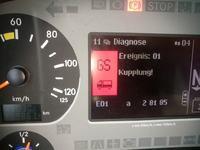 Mercedes Actros 2541 MP2 - Błędy sprzęgła Kupplung Ereignis: 01 GS 01 a28185