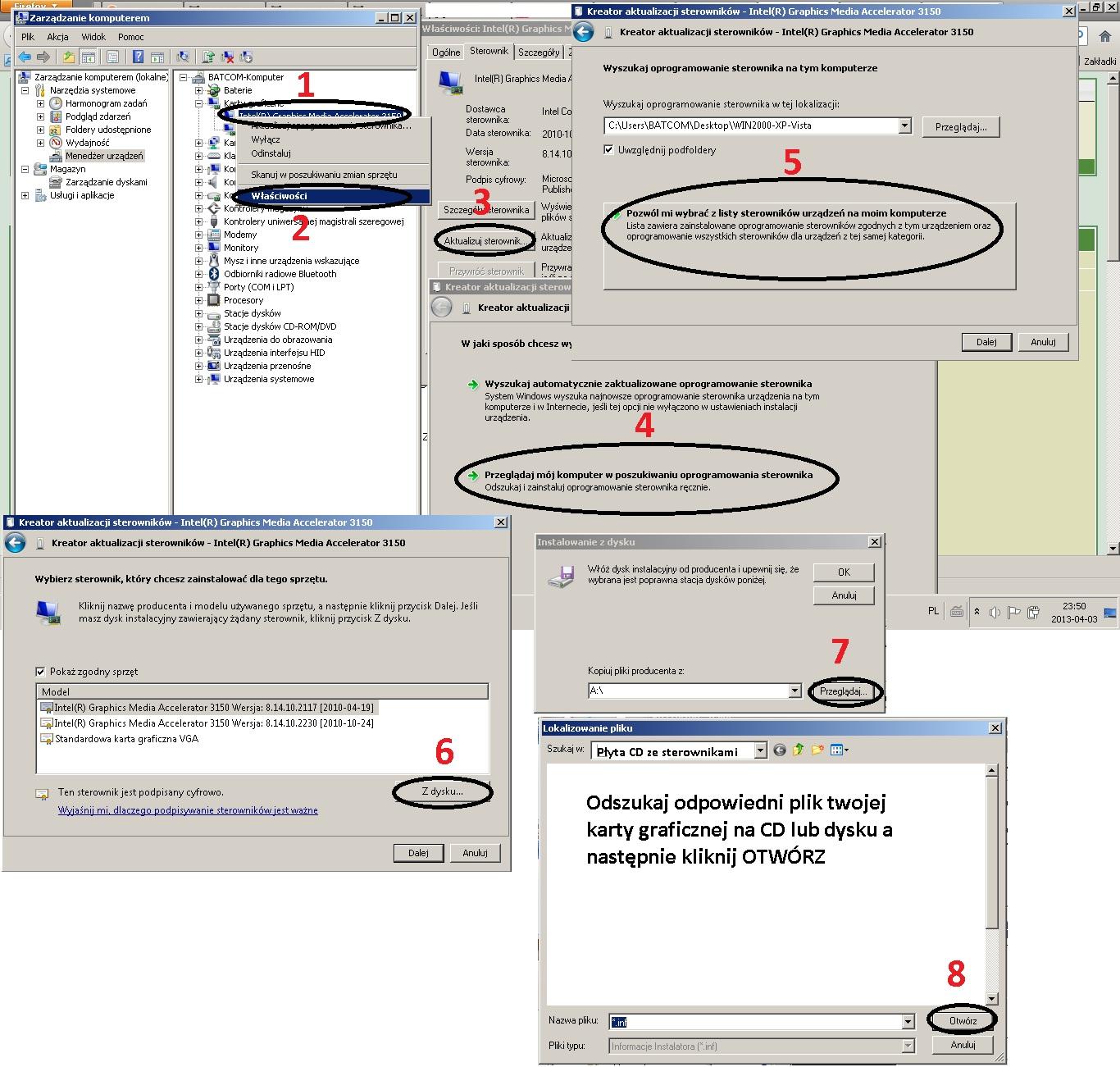 Win 7 + asus 5670 - Znikni�cie pow�oki win 7 po instalacji sterownika grafiki