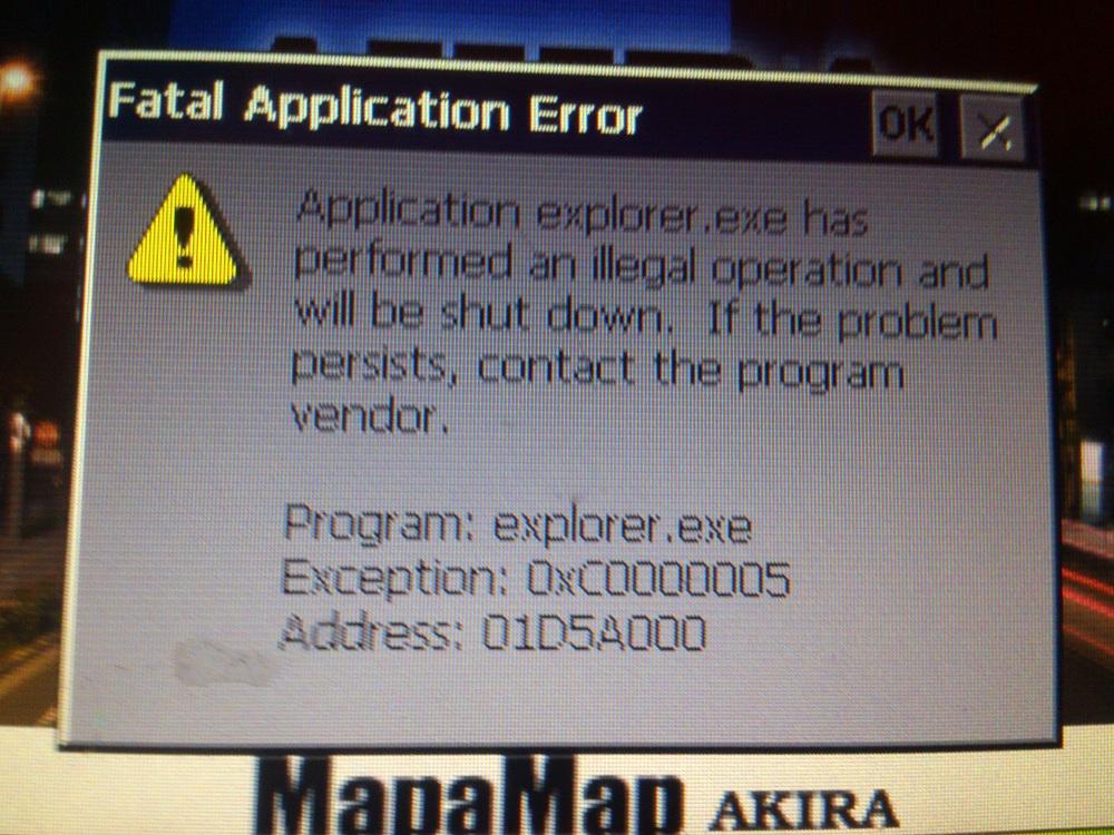 Akira MM-517 - Akira MM-517 przy �adowaniu b��d explorera