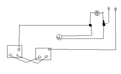 instalacja schodowa - 2 zarowki + 2 wylaczniki