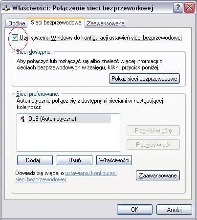 Windows XP - konfiguracja sieci bezprzewodowej
