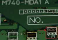 Element do zidentyfikowania lub schemat z wykazem element�w p�ytki M740-MDA1 A