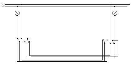 Po��czenie schodowe podw�jne - dwa punkty i dwie �ar�wki