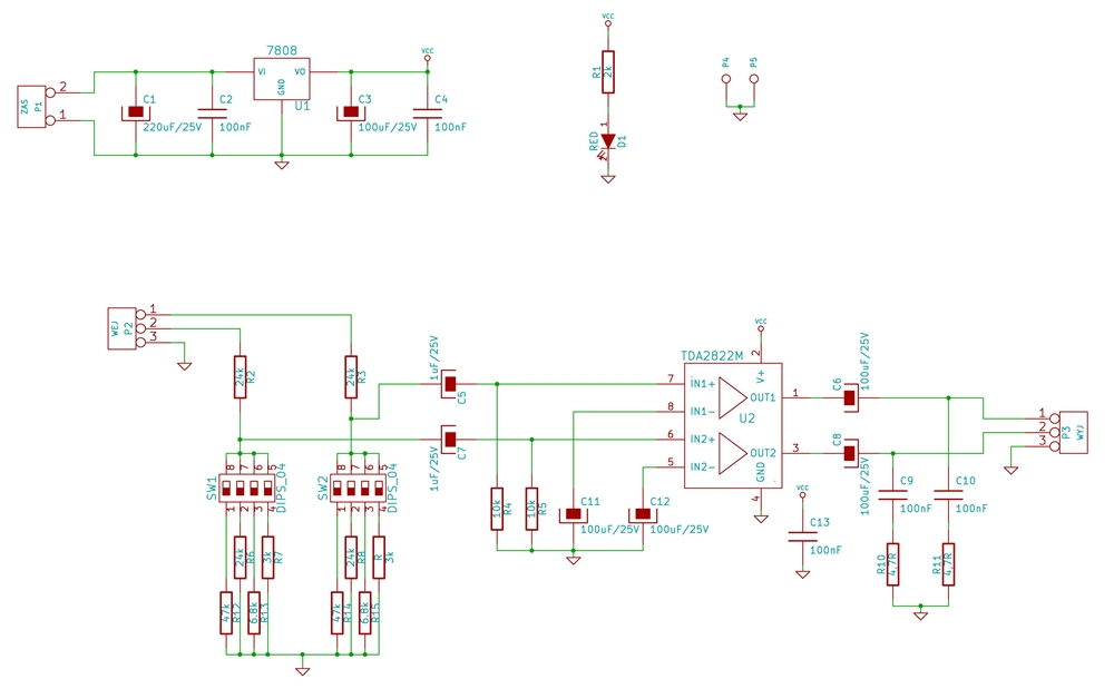 TDA2822M - Znaczny szum w tle
