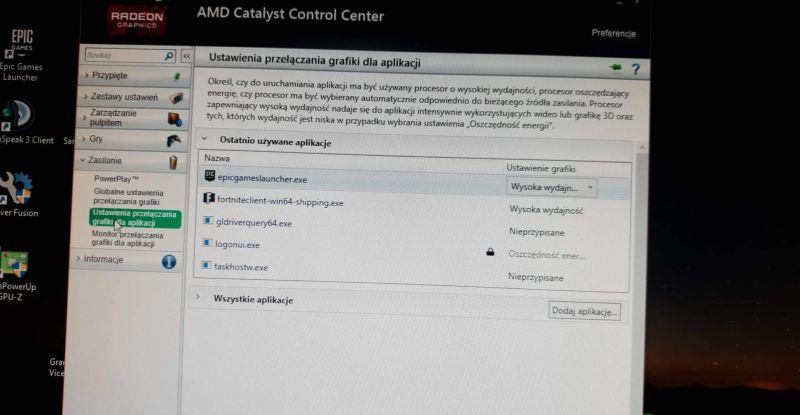GPU AMD nie reagujące w grach -
