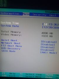 Problem z boot menu w laptopie Packard bell easynote LJ75