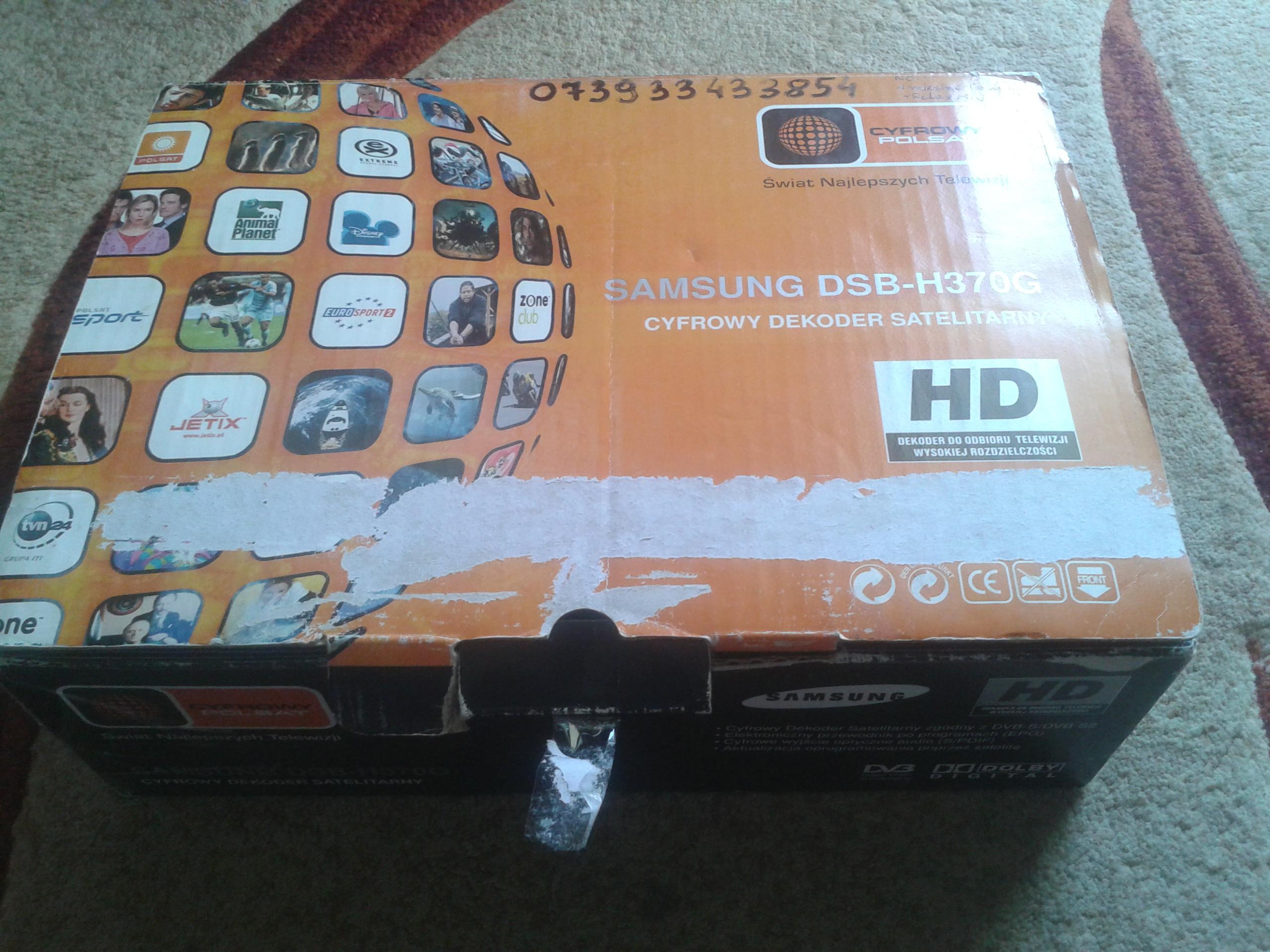 [Sprzedam] Dekoder Samsung DSB-H370G, nowy nie rejestrowany w Cyfrowym Polsacie