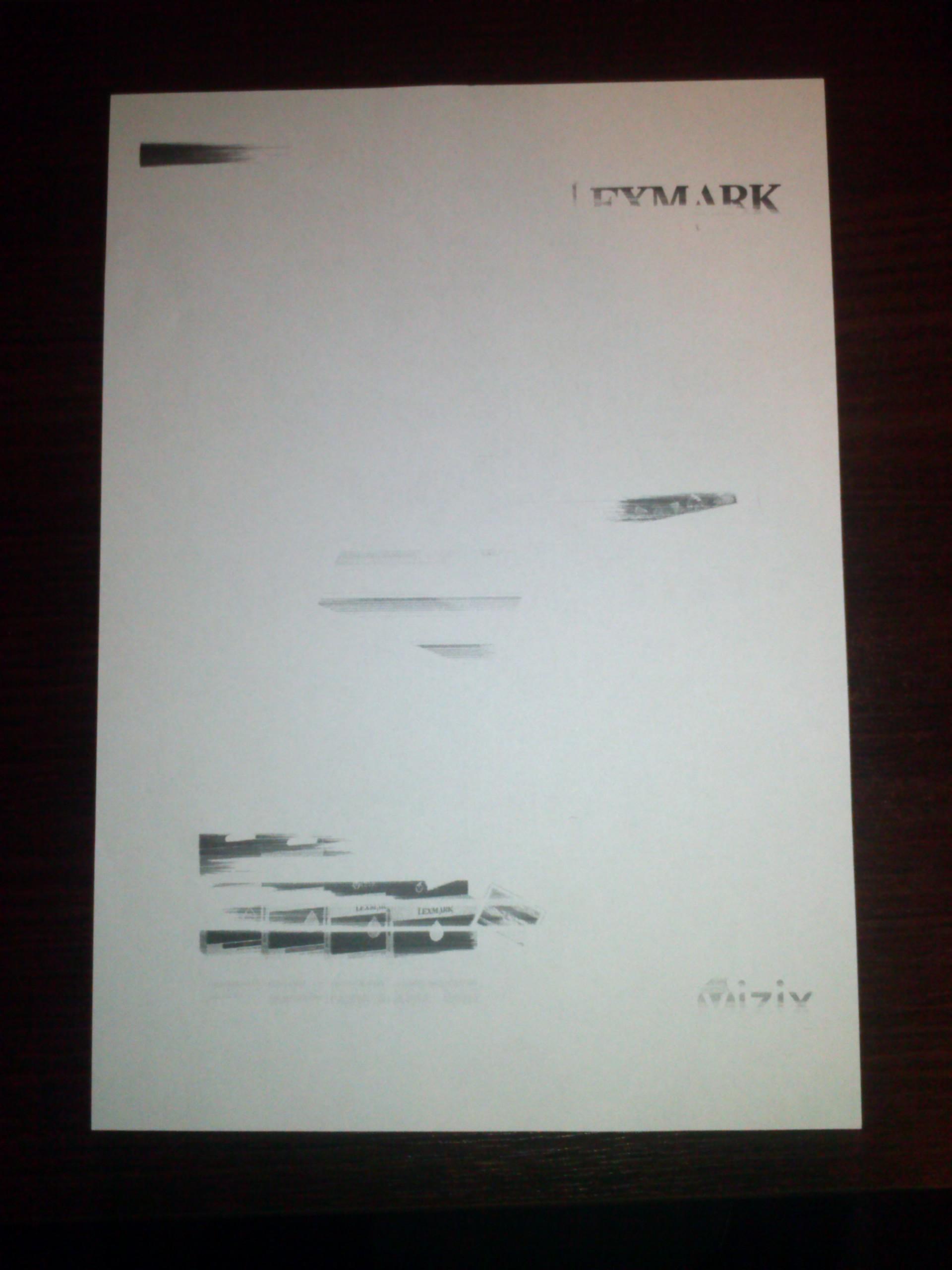 Lexmark S300-S400 - Nieprawid�owa praca drukarki