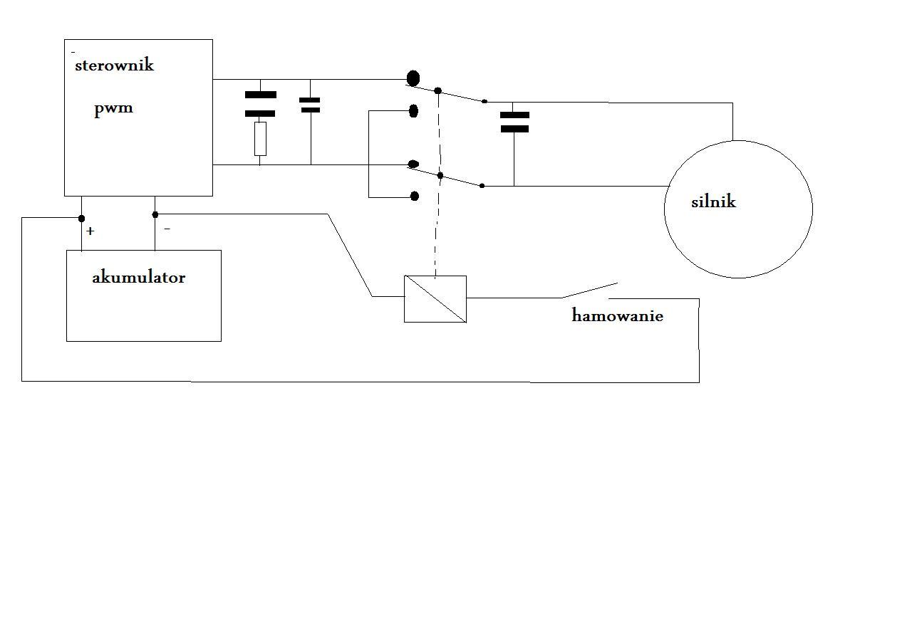 Hamowanie silnikiem 24V DC 250W (bez odzysku energii) - e rower
