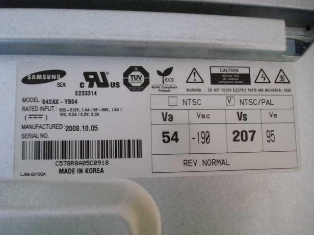 Samsung PS42A451P1XXC - Schamat modu�u LJ41-06004A