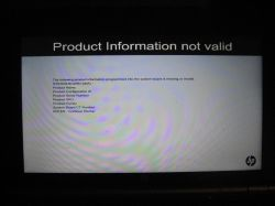HP Elitebook 2170p - Product information not valid
