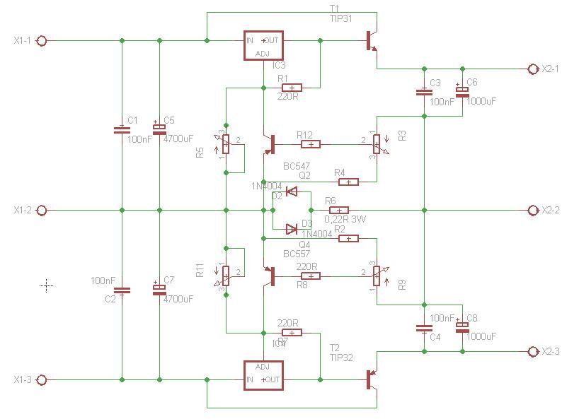 zasilacz symetryczny lm317/337 - nie dzia�a regulacja nat�enia