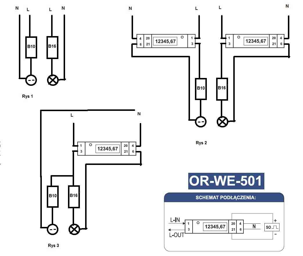 ORWE501 - Pod��czenie podlicznika OR WE 501