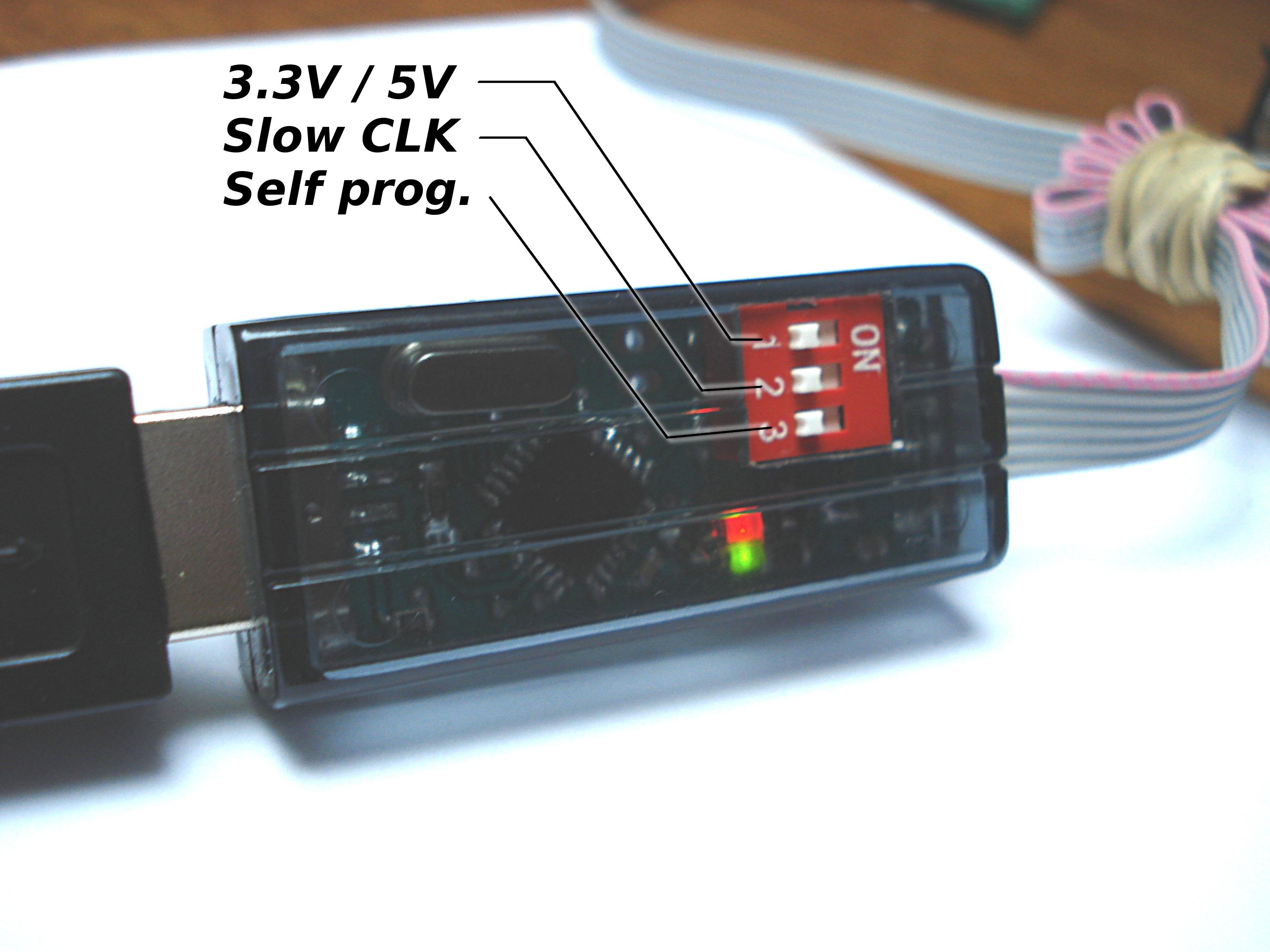 USBasp - buforowany mini programator z napi�ciami 5V/3.3V