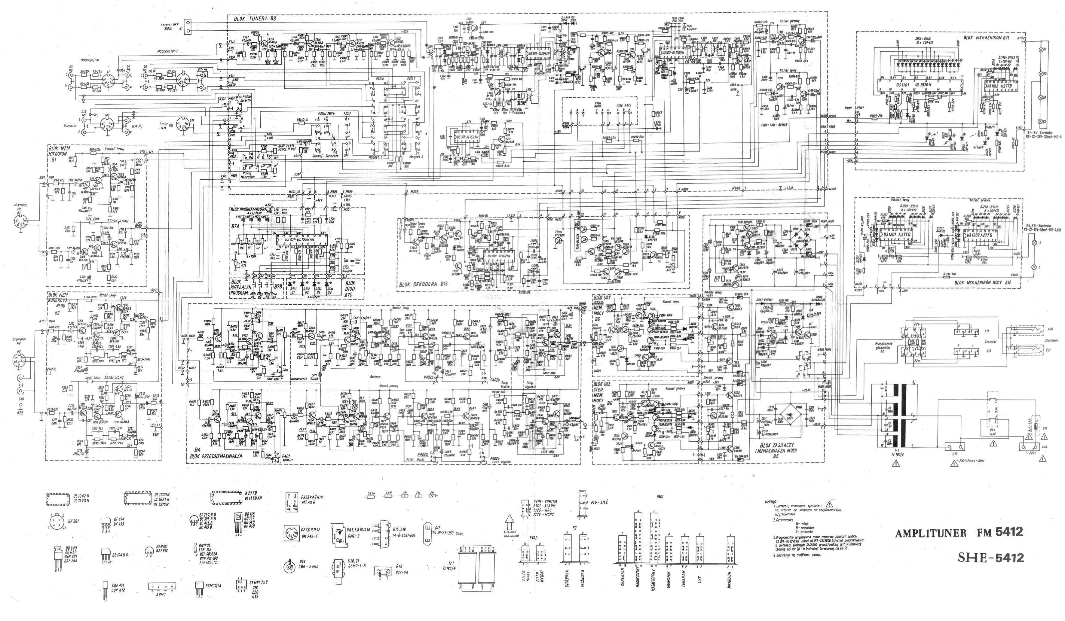 Radmor 5412 - brak sygna�u na wyj�ciu g�o�nikowym