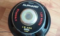 Subwoofer na dwóch głośnikach Alphard LW 800