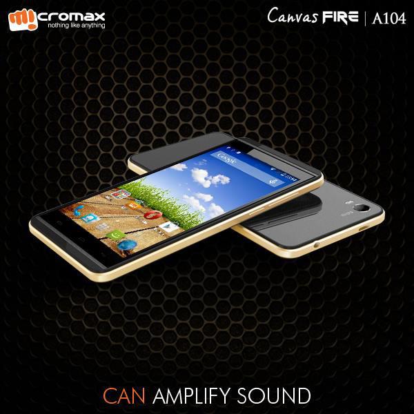 Micromax Canvas Fire A104 - 4.5-calowy smartfon z Androidem 4.4 za ok. 350z�.