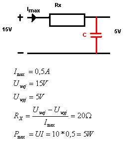 Pojemność kondensatora w filtrze napięcia