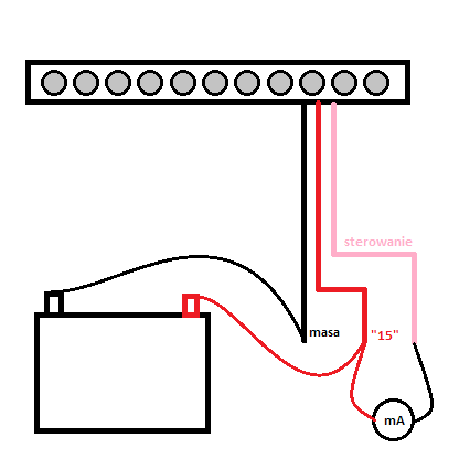 Optyczny wyłącznik świateł dziennych do Mercedesa w211