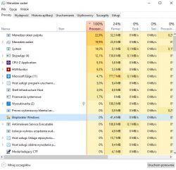 100% wykorzystania procesora