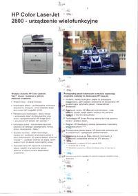 Hp CLJ 2840 - Regularne odbicia na wydrukach