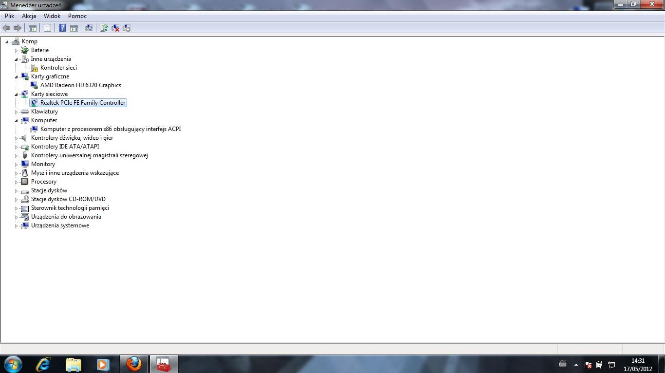 HP COMPAQ PRESARIO CQ57 brak kontrolera sieci